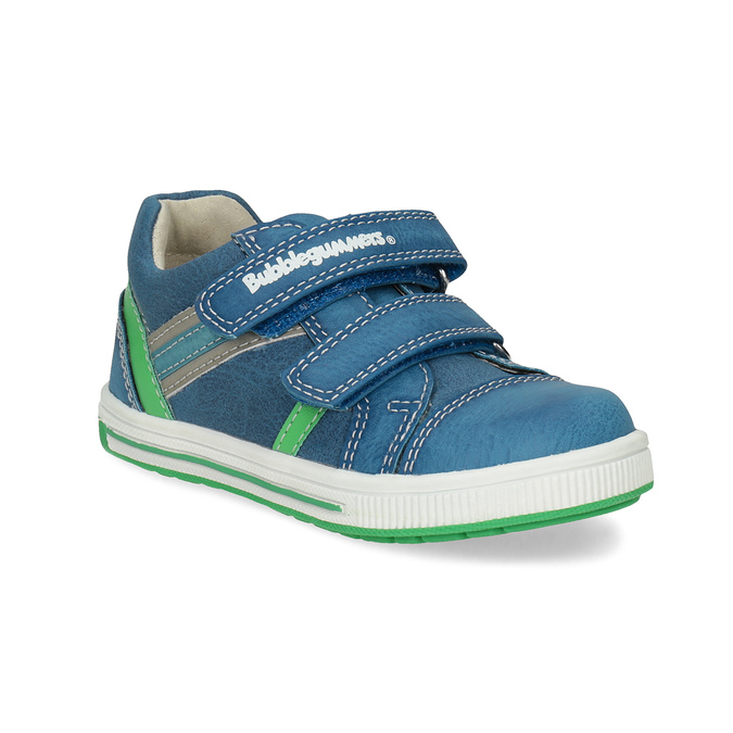 Modré dětské tenisky se zeleným detailem bubblegummers, modrá, 111-9625 - 13