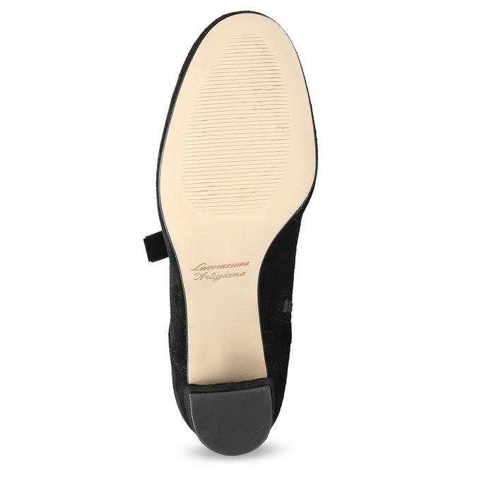 Kožené kotníčkové boty s mašlí bata, černá, 793-6613 - 18