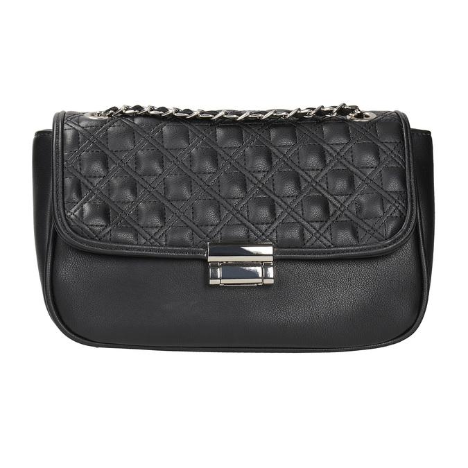 Crossbody kabelka z prošitím bata, černá, 961-6826 - 26