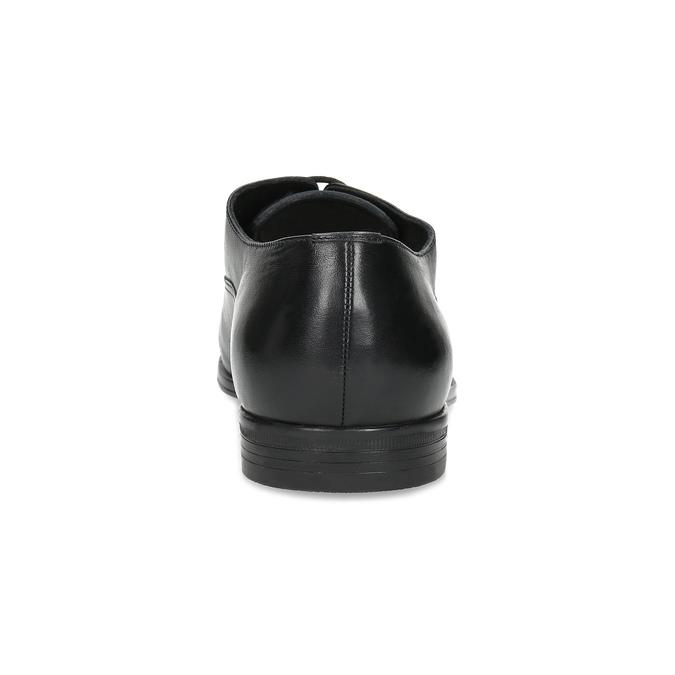 Černé kožené Oxford polobotky bata, černá, 824-6944 - 15