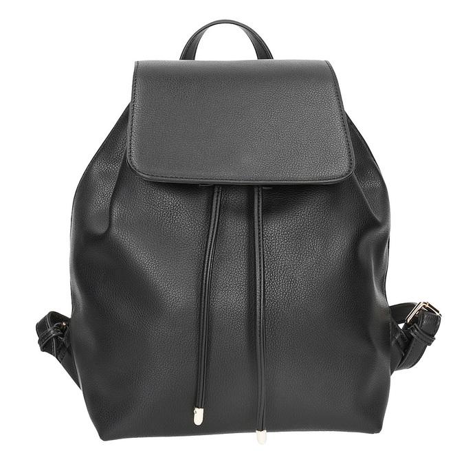 Černý batoh s poutkem bata, černá, 961-6858 - 26