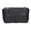 Crossbody kabelka z prošitím bata, černá, 961-6826 - 16