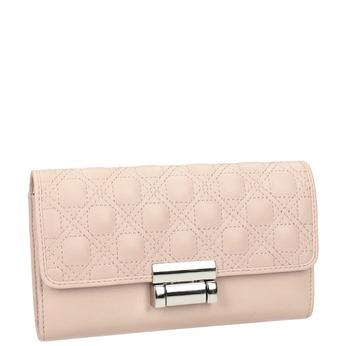 Růžová dámská peněženka s prošitím bata, 941-9169 - 13