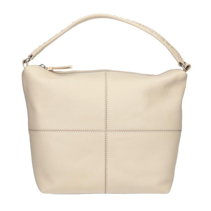Krémová kožená Hobo kabelka bata, béžová, 964-8290 - 26