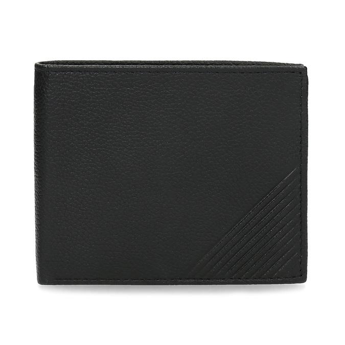 Kožená pánská peněženka s vroubky bata, černá, 944-6206 - 26