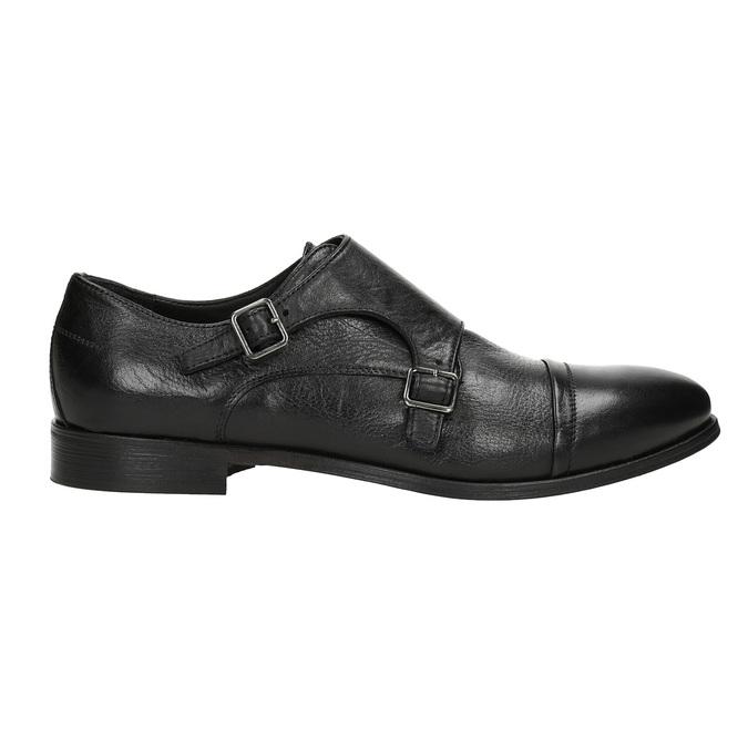 Černé kožené Monk Shoes bata, černá, 824-6730 - 16