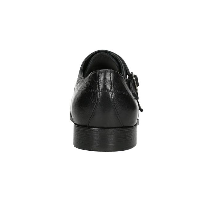 Černé kožené Monk Shoes bata, černá, 824-6730 - 15
