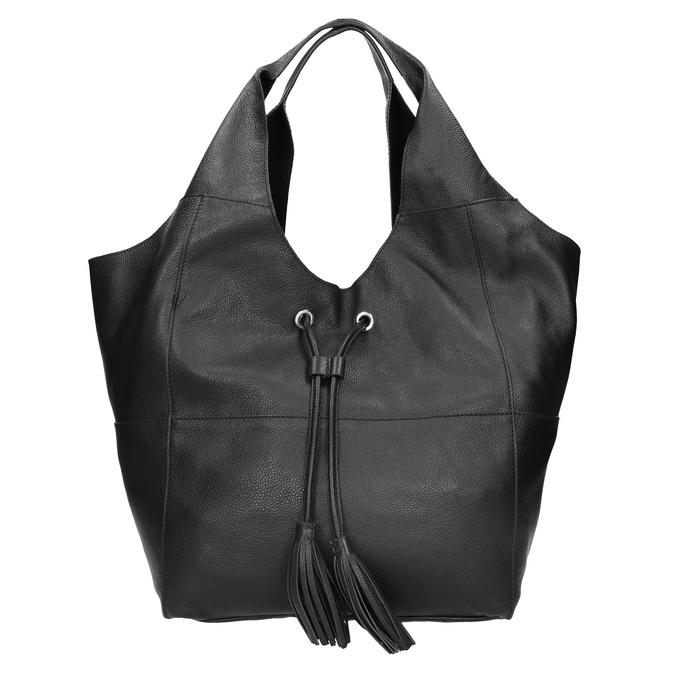 Kožená dámská kabelka se střapci bata, černá, 964-6294 - 26