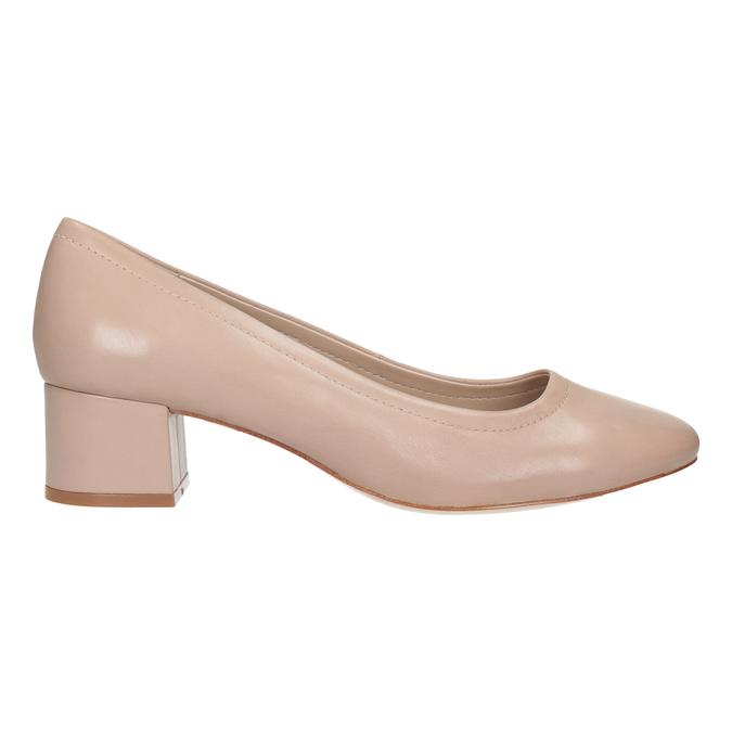 Tělové lodičky na nízkém podpatku bata, růžová, 624-8644 - 26