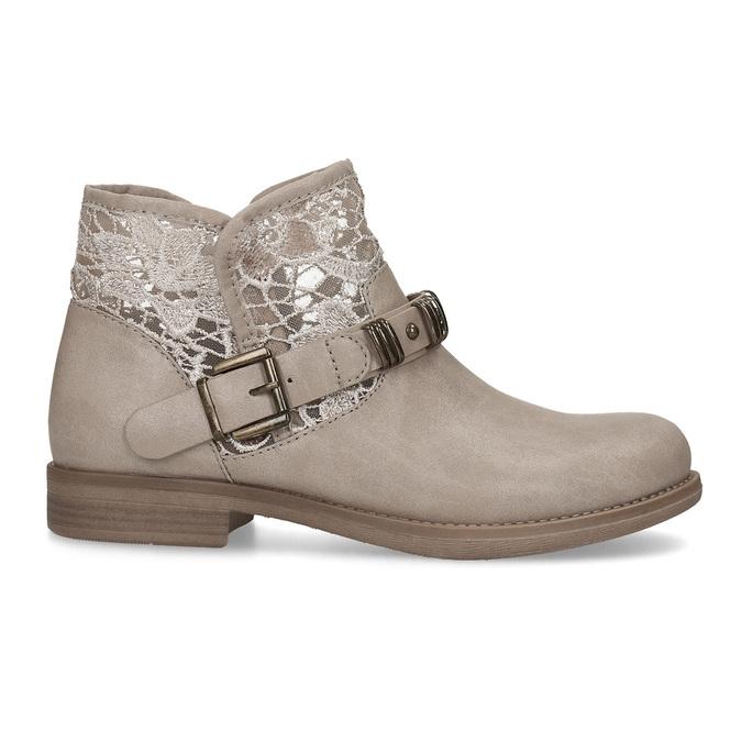 Dámské kozačky s krajkou bata, šedá, 591-2628 - 19