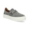 Dámské Slip-on s kovovou přezkou bata, šedá, 513-2600 - 13