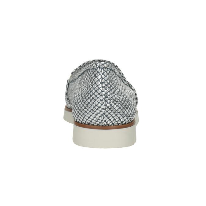 Stříbrné kožené Slip-on boty flexible, 536-1604 - 15