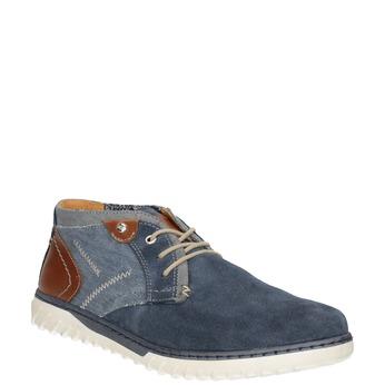 Pánská vycházková obuv bata, modrá, 843-9633 - 13