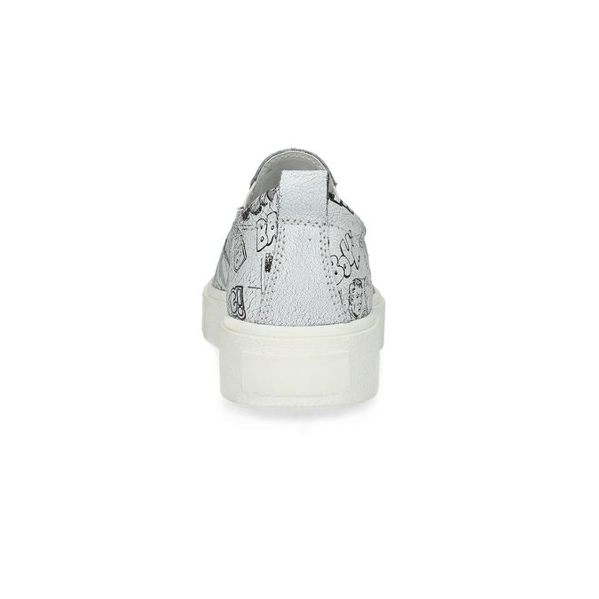 Dámská kožená Slip-on obuv bata, bílá, 536-1608 - 15