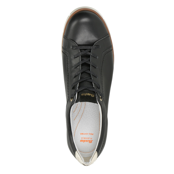Dámské kožené polobotky ležérní flexible, černá, 546-6614 - 17