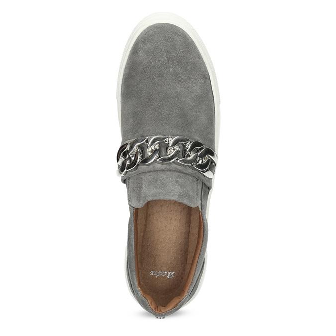 Dámské Slip-on s kovovou přezkou bata, šedá, 513-2600 - 17