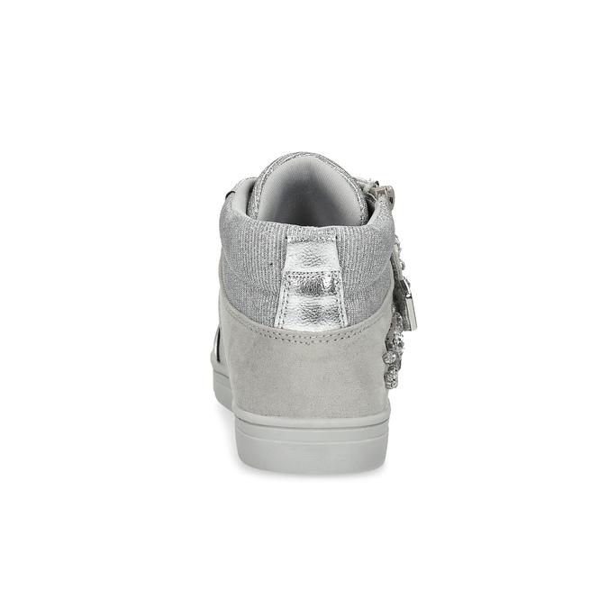 Stříbrné dívčí tenisky s kamínky mini-b, stříbrná, 329-2301 - 15