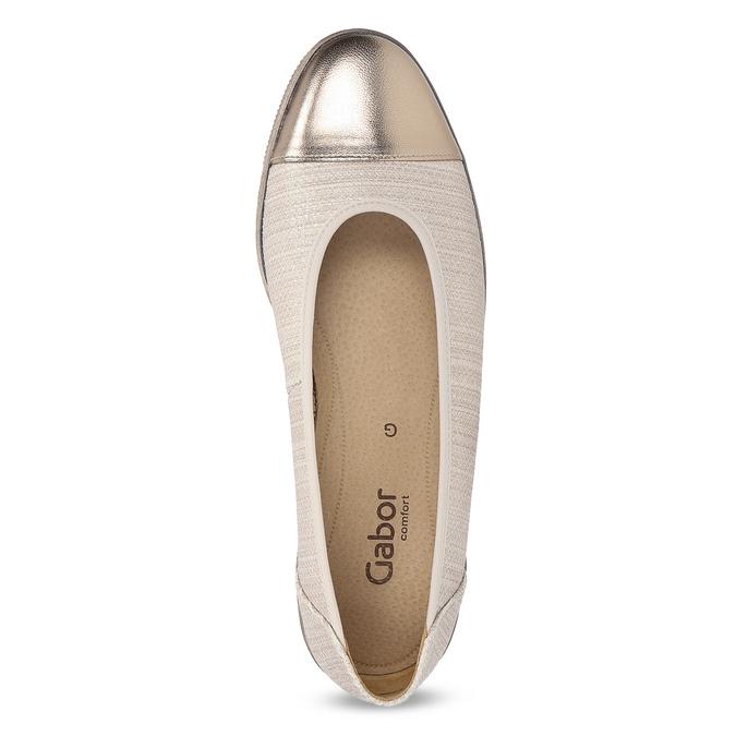 Kožené baleríny šíře G gabor, béžová, 626-8055 - 17