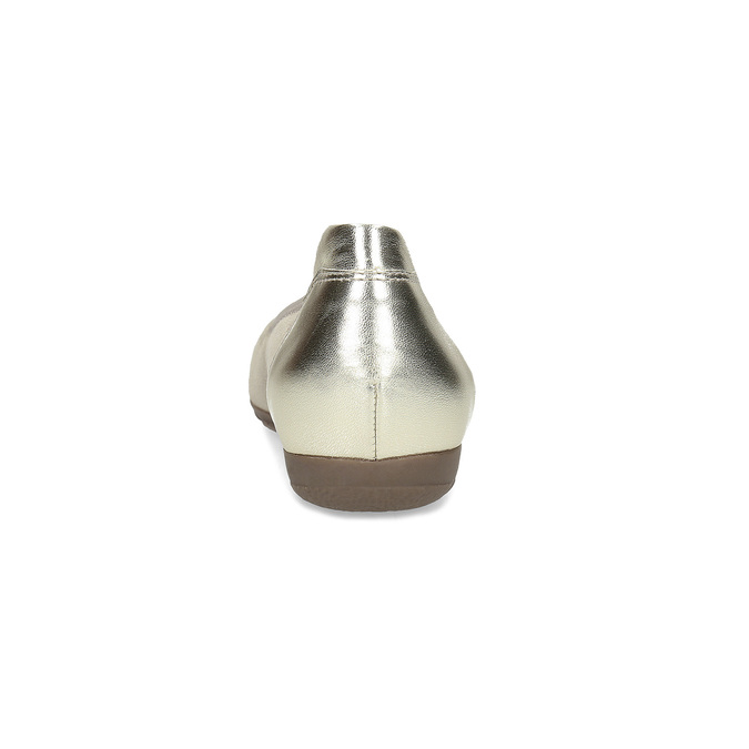 Kožené baleríny s kamínky gabor, béžová, 526-8502 - 15