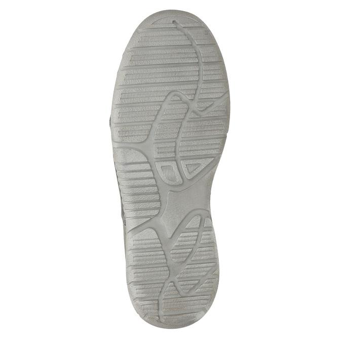 Pánské kožené Slip-on boty weinbrenner, šedá, 836-2602 - 19