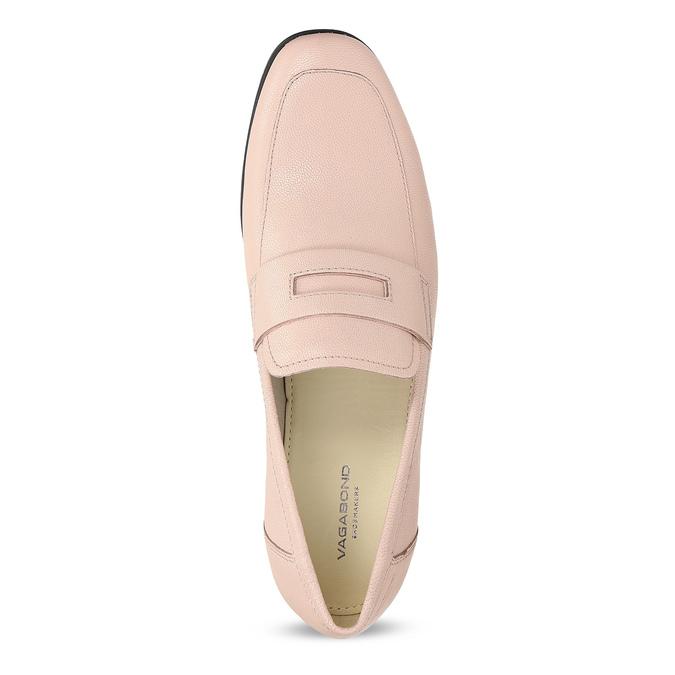 Růžové kožené Penny Loafers vagabond, růžová, 514-8094 - 17