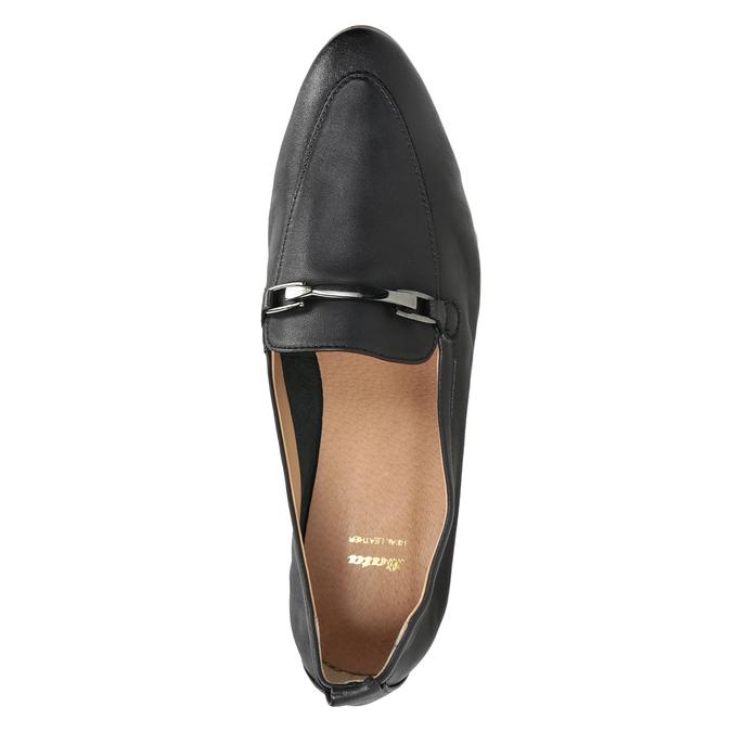 Kožené dámské mokasíny s přezkou bata, černá, 516-6619 - 17