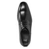 Černé kožené Derby polobotky bata, černá, 824-6981 - 15
