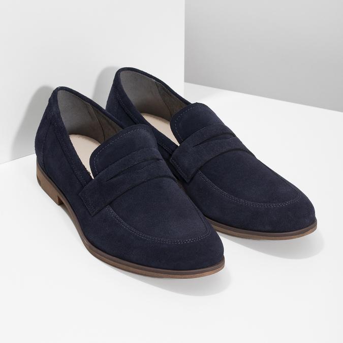 Mokasíny ve stylu Penny Loafers modré vagabond, modrá, 813-9053 - 26