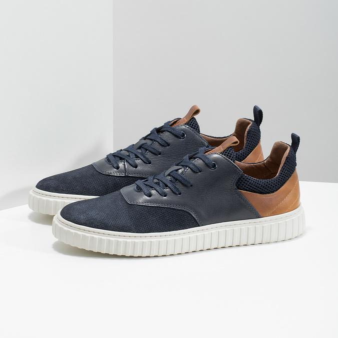 Ležérní kožené tenisky bata, 843-9637 - 16