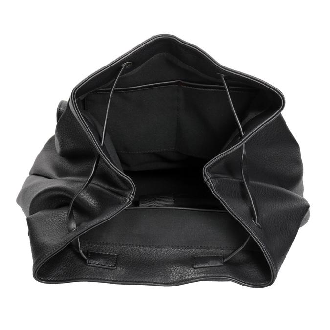Černý dámský batoh bata, černá, 961-6833 - 15