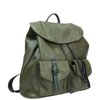 Dámský zelený batoh bata, khaki, 961-7833 - 13