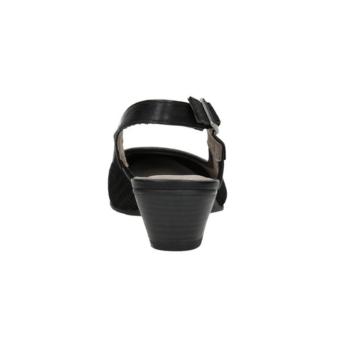 Lodičky šíře H s volnou patou bata, černá, 623-6645 - 16