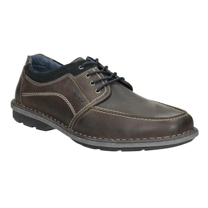 Kožené pánské ležérní polobotky bata, 826-2654 - 13