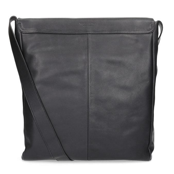 Kožená černá Crossbody s klopnou vagabond, černá, 964-6050 - 16