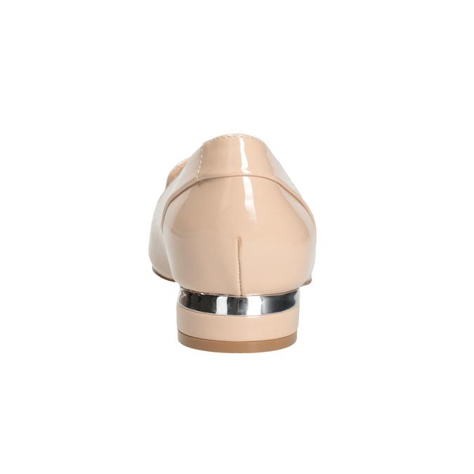 Béžové Loafers na nízkém podpatku bata, béžová, 511-8608 - 16