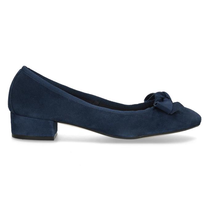 Baleríny z broušené kůže modré bata, modrá, 523-9420 - 19