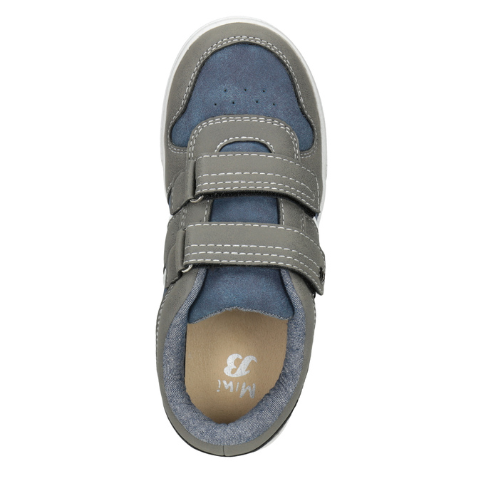 Dětské tenisky na suché zipy mini-b, šedá, 411-2101 - 15