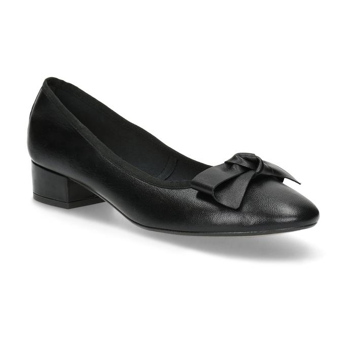 Kožené baleríny s mašlí černé bata, černá, 524-6420 - 13