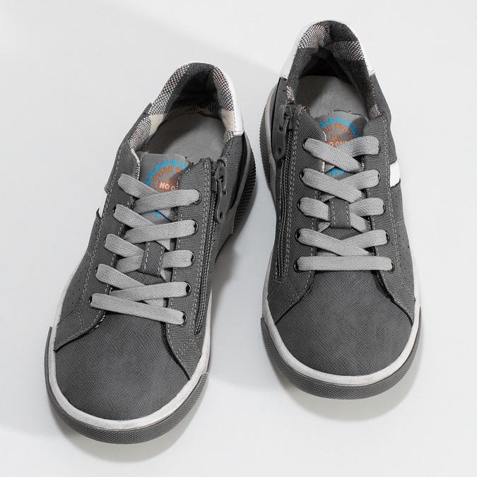Dětské tenisky s perforací mini-b, šedá, 411-2102 - 16