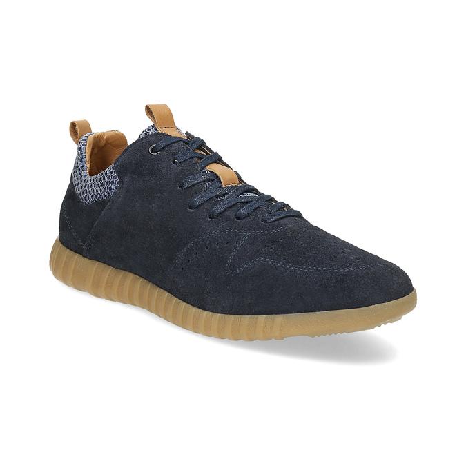 Pánské tenisky z broušené kůže modré bata, 843-9634 - 13