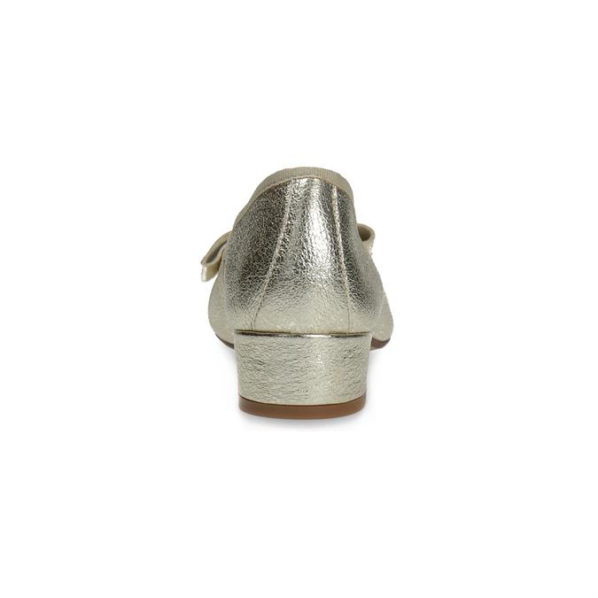 Kožené baleríny na nízkém podpatku bata, zlatá, 526-8420 - 15