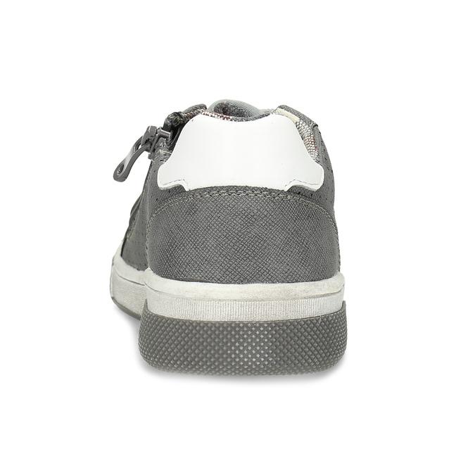 Dětské tenisky s perforací mini-b, šedá, 411-2102 - 15