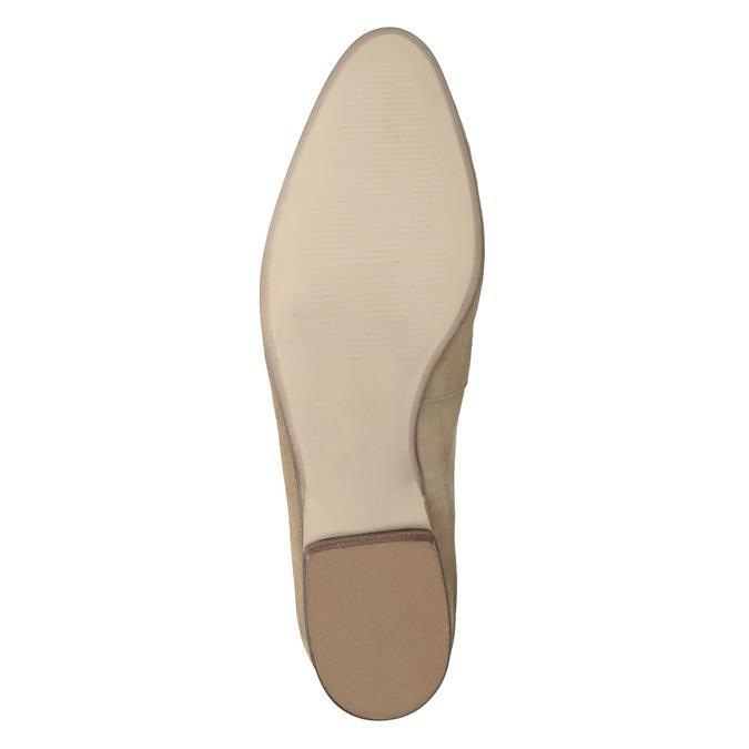 Ležérní mokasíny z broušené kůže bata, hnědá, 516-4618 - 19