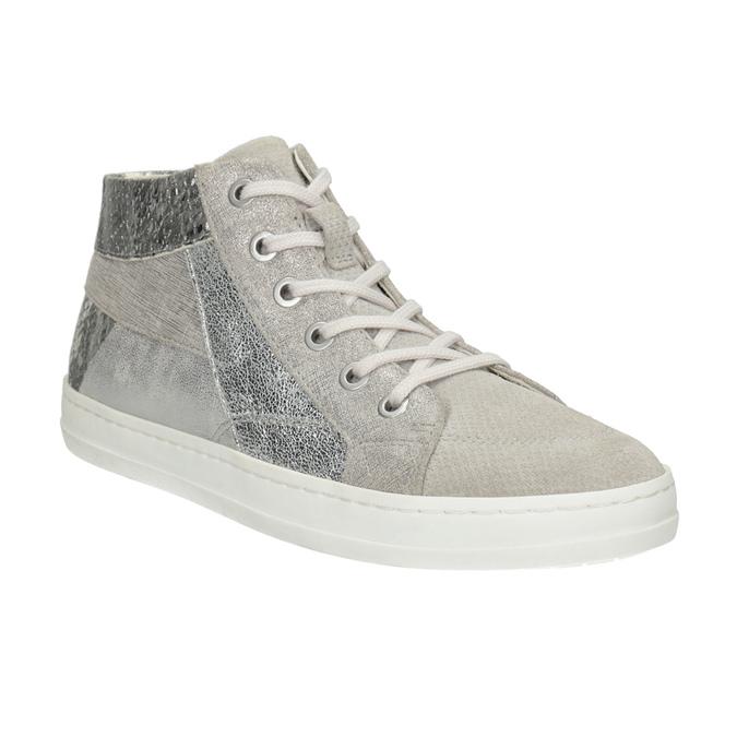Kotníčkové kožené tenisky bata, šedá, 546-2608 - 13
