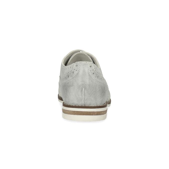 Dámské kožené Brogue polobotky bata, šedá, 526-1649 - 15