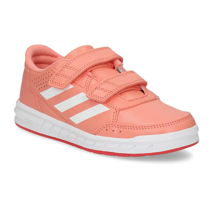 Dětské tenisky v lososové barvě adidas, růžová, 301-5151 - 13