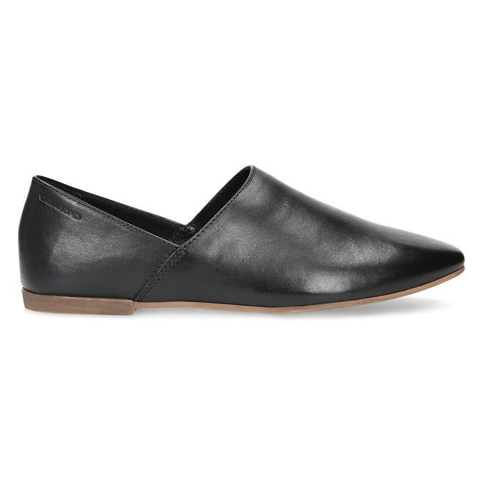 Kožené dámské Slip-on černé vagabond, černá, 514-6096 - 19