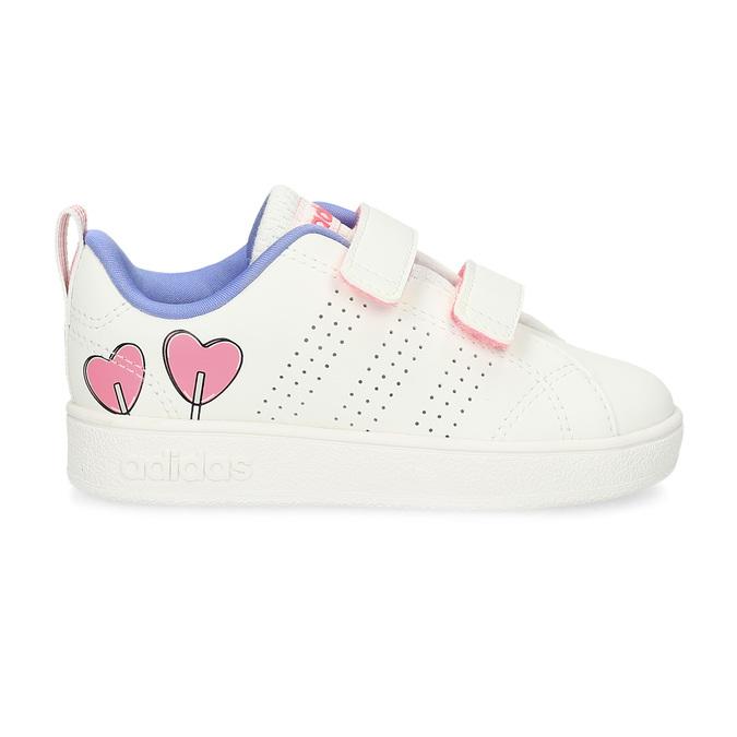 Dětské bílé tenisky se srdíčky adidas, bílá, 101-1129 - 19