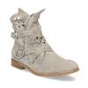 Kožené kotníčkové kozačky s průstřihy bata, šedá, 596-2689 - 13
