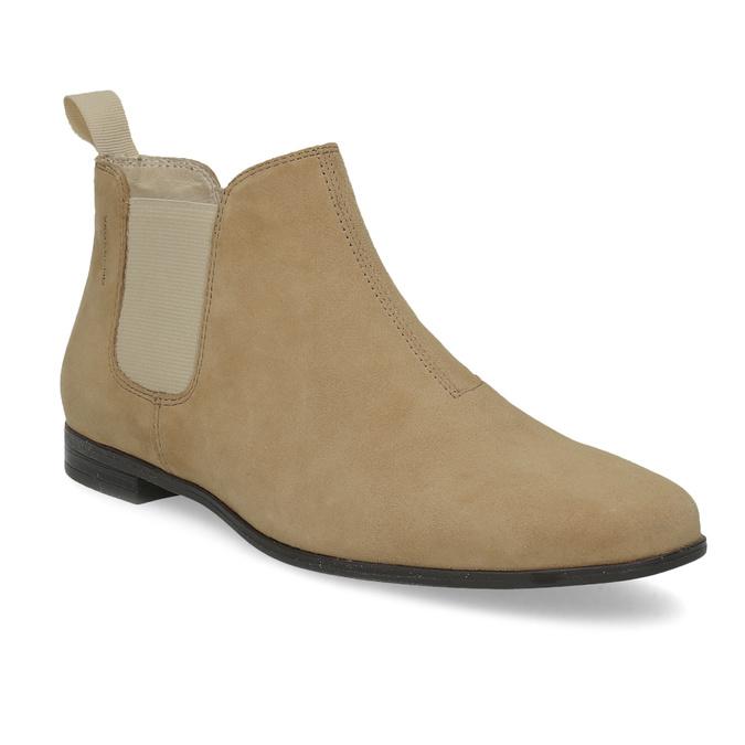 Kožené kotníčkové Chelsea Boots vagabond, hnědá, 513-4098 - 13